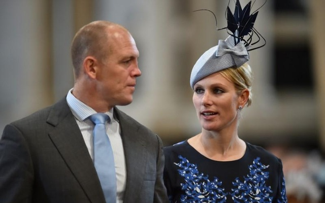 FILE PHOTO: Britain's Zara Phillips and her husband English former rugby player Mike Tindall arrive for a service of thanksgiving for Queen Elizabeth's 90th birthday at St Paul's cathedral in London, Britain, June 10, 2016. REUTERS/Ben Stansall/Pool/File Photo