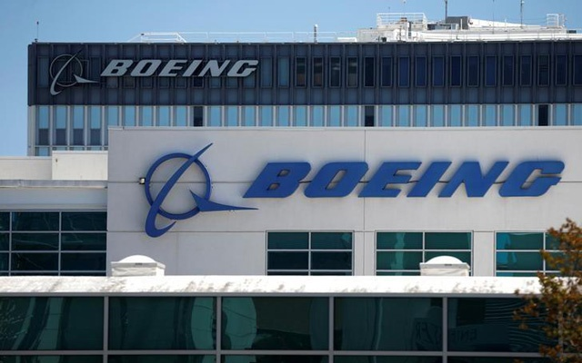 FILE PHOTO - The logo of Boeing is seen in Los Angeles, California, United States, April 22, 2016. Reuters