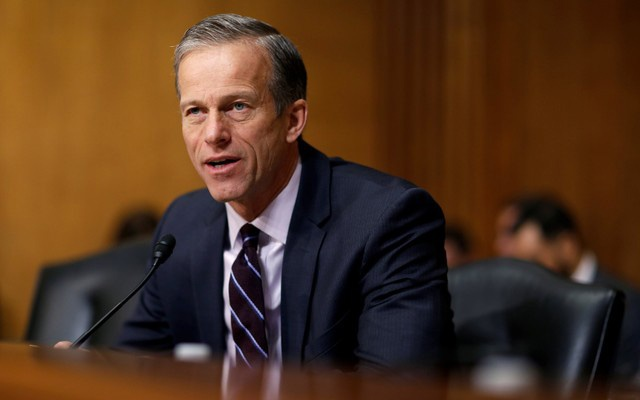 Senator John Thune (R-SD) questions Alex Azar II as he testifies before the Senate Finance Committee on his nomination to be Health and Human Services secretary in Washington, US, January 9, 2018. Reuters