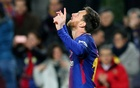 Barcelona's Lionel Messi celebrates scoring their first goal, Camp Nou, Barcelona, Spain, Jan 11, 2018. Reuters