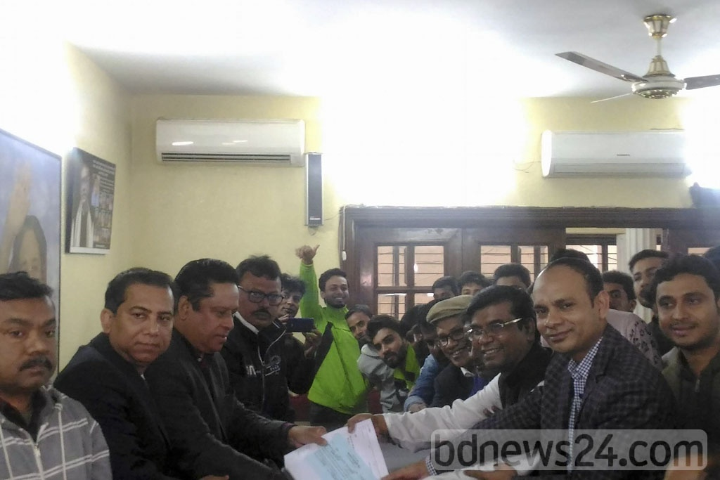The Awami League began distributing forms among those wishing to compete as a part-backed candidate in the upcoming Dhaka North City Corporation by-polls.