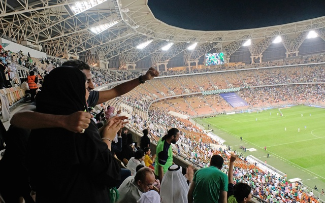 First time ever - Saudi women enter stadium to watch soccer