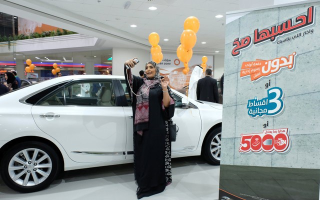 A Saudi woman is seen at the first automotive showroom solely dedicated for women, in Jeddah, Saudi Arabia January 11, 2018. Reuters