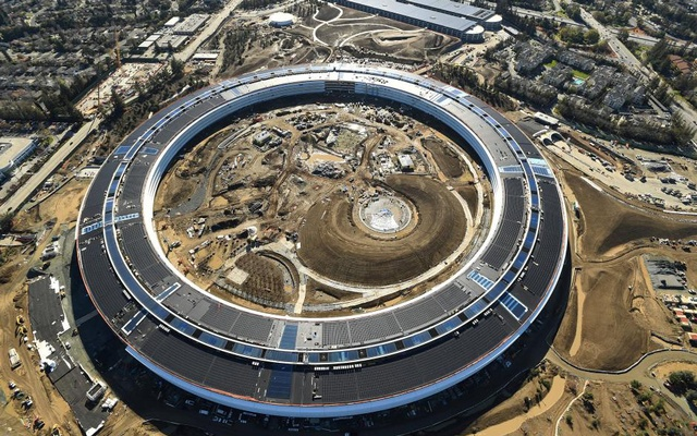 FILE PHOTO: The Apple Campus 2 is seen under construction in Cupertino, California in this aerial photo taken January 13, 2017. Reuters