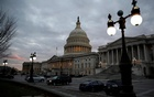 File Photo: The US Capitol building is lit at dusk. Reuters