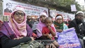 A group of teachers from the private primary schools stage a sit-in in front of the National Press Club in Dhaka on Sunday demanding nationalisation of their institutions.