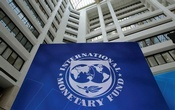 The International Monetary Fund logo is seen during the IMF/World Bank spring meetings in Washington, US, April 21, 2017. Reuters
