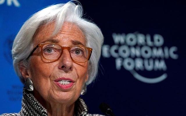 Christine Lagarde, Managing Director of the International Monetary Fund (IMF) attends a news conference on the world economic outlook during the World Economic Forum (WEF) annual meeting in Davos, Switzerland, Jan 22, 2018. Reuters