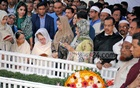 Khaleda visits Coco's grave after attending court hearing
