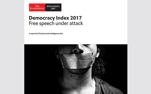 India slips 10 places to 42 in Economist Intelligence Unit's Democracy Index