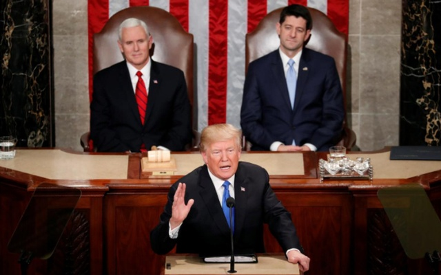 Trump Calls Democrats 'Treasonous' For Not Clapping During SOTU