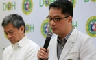 Dr Rolando Enrique Domingo (R), Undersecretary of the Department of Health (DOH), with Dr. Gerardo Legaspi, Director of the Philippine General Hospital (PGH), answer questions during a news conference at the DOH headquarter in metro Manila, Philippines Feb 2, 2018. Reuters