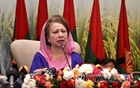 BNP Chairperson Khaleda Zia inaugurates the meeting of the BNP National Executive Committee at Dhaka's Le Méridien hotel on Saturday. Photo: asif mahmud ove