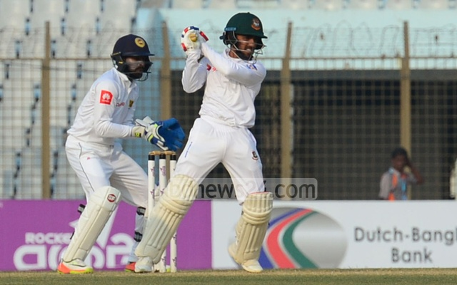 Mominul Haque guides Bangladesh to draw with record ton against Sri Lanka
