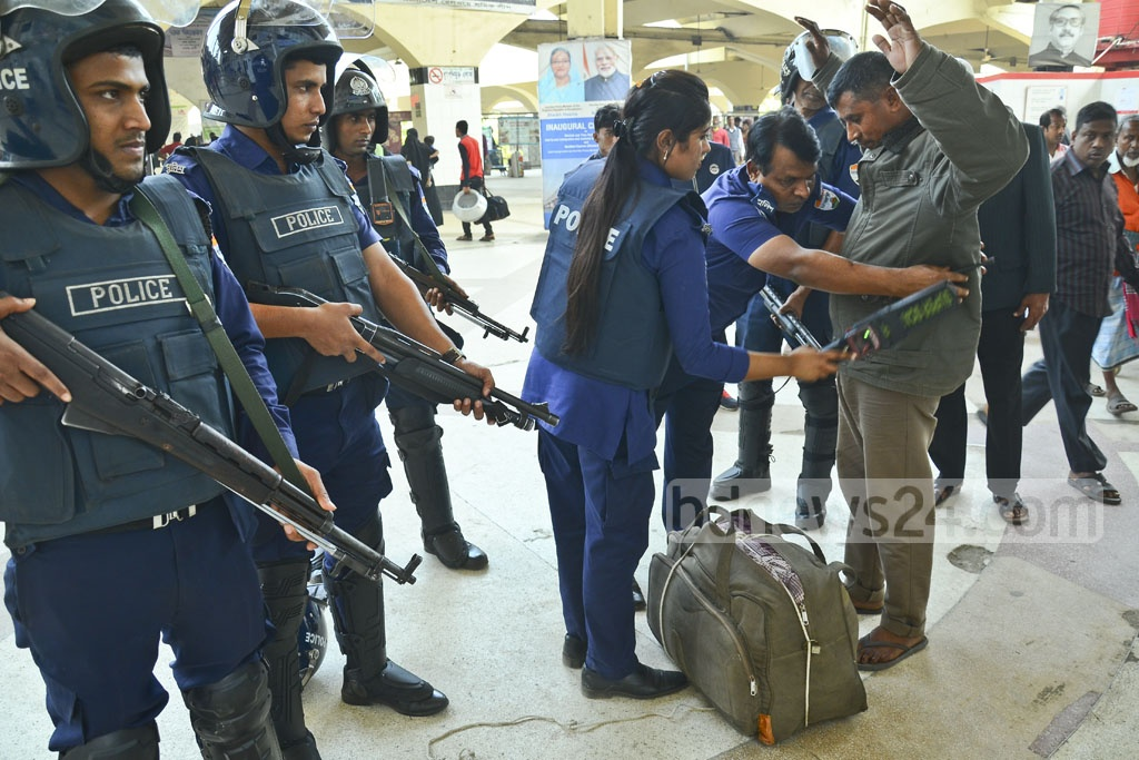 Additional police have been deployed at Kamlapur Railway Station on Wednesday as part of the security measures ahead of the verdict of a graft case against BNP chairperson Khaleda Zia.