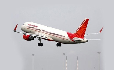 FILE PHOTO: An Air India aircraft takes off from the Sardar Vallabhbhai Patel International Airport in Ahmedabad, India, July 7, 2017. Reuters