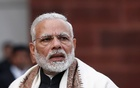 India's Prime Minister Narendra Modi speaks with the media inside the parliament premises on the first day of the budget session, in New Delhi, India, Jan 29, 2018. Reuters