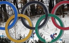 Cross-Country Skiing – Pyeongchang 2018 Winter Olympics – Men's 15km + 15km Skiathlon – Alpensia Cross-Country Skiing Centre – Pyeongchang, South Korea – Feb 11, 2018 - Scott Patterson of the US skis past the Olympic symbol. Reuters