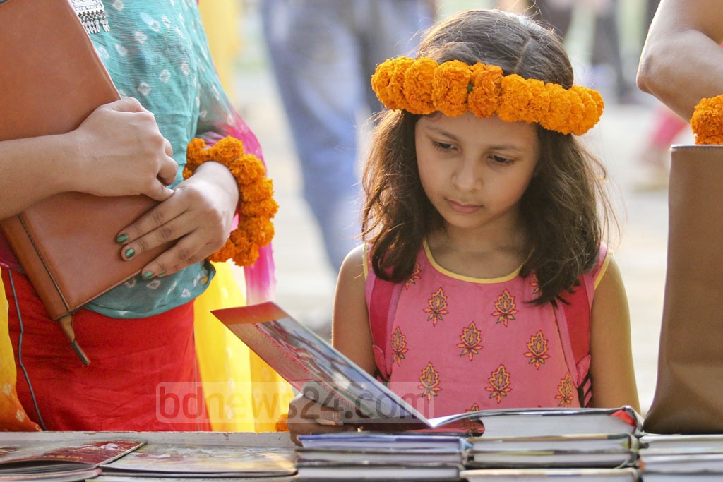 Children would not miss out as they mingle among the book fair crowd being at their most spectacular. Photo: asif mahmud ove