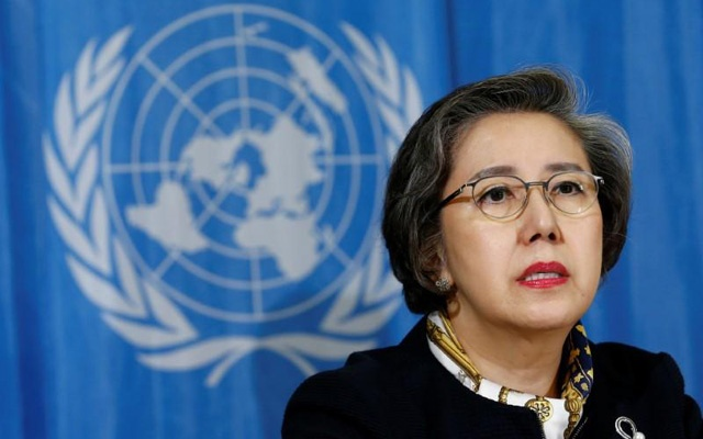 Yanghee Lee had been, in the past, prevented from going to Rakhine and after the latest exodus of Rohingyas, she has been barred from visiting the country. Reuters file photo