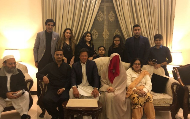 Imran Khan married Bushra Mankea in a low-key ceremony in Lahore on Sunday.(Twitter/PTIOfficial)