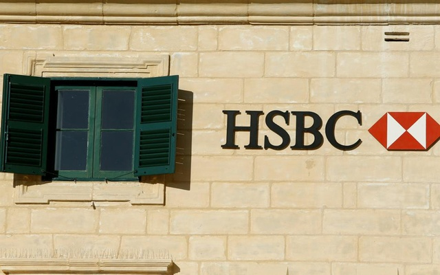 FILE PHOTO: HSBC bank signage is seen on a bank branch in Valletta, Malta. Reuters