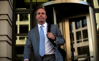 File Photo: Former US President Donald Trump campaign aide Rick Gates departs after a status conference at the US District Court following his indictment on tax fraud and money laundering charges in the special counsel's investigation into alleged Russian meddling in the 2016 US presidential election in Washington, US, Nov 2, 2017. Reuters