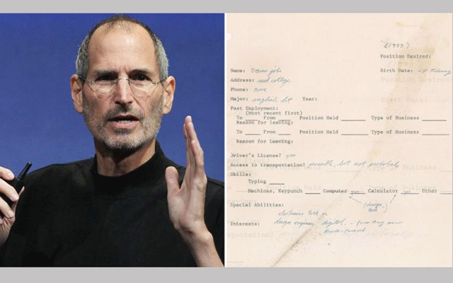 Steve Jobs Pre Apple Job Application Could Fetch 50000 At Auction