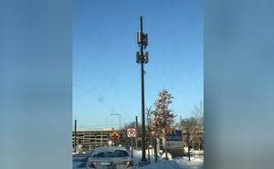 A small-cell antenna that was installed in Minneapolis, Minnesota, in January 2018. Handout Pic courtesy of: David P. Young