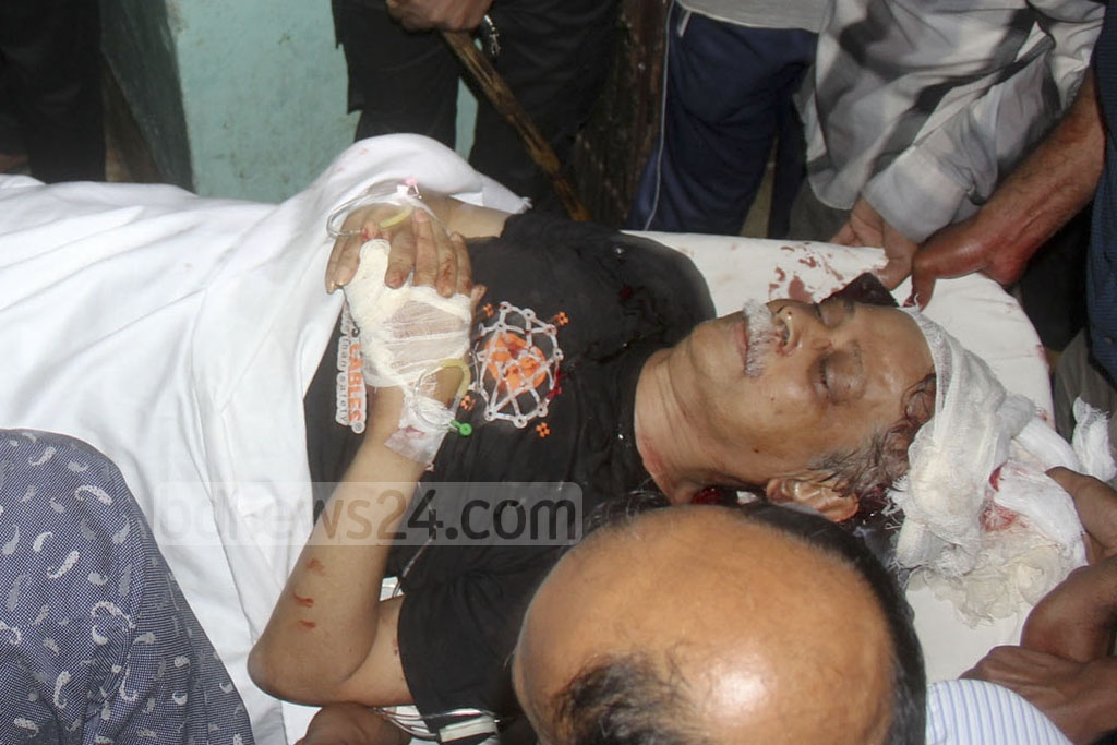 Prof Muhammed Zafar Iqbal is being taken to Sylhet MAG Osmani Medical College Hospital after he was stabbed during a programme on Shahjalal University of Science and Technology campus on Saturday.