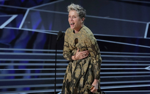 90th Academy Awards - Oscars Show - Hollywood, California, US, 04/03/2018 - Frances McDormand accepts the Best Actress Oscar for her performance in