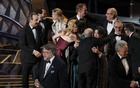 90th Academy Awards - Oscars Show - Hollywood, California, US, 04/03/2018 - Guillermo del Toro (L) accepts the Oscar for Best Picture for 'The Shape of Water'. Reuters