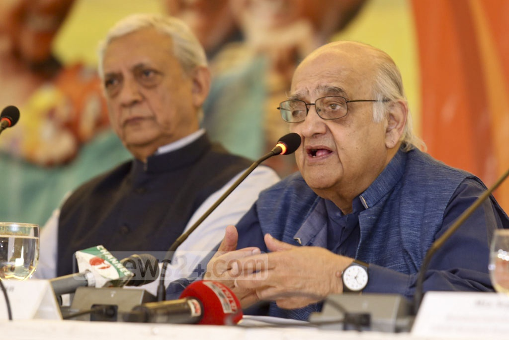 CPD Chairman Rehman Sobhan speaks at a conference titled 'Bangladesh Graduation of the LDC Group' at a hotel in Dhaka on Saturday.