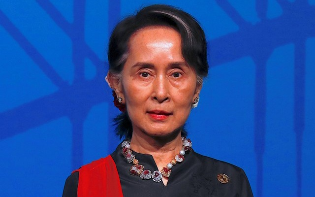 Myanmar leader welcomed to Australian Parliament House