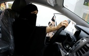 A Saudi woman checks a car at the first automotive showroom solely dedicated for women in Jeddah, Saudi Arabia, Jan 11, 2018. Reuters