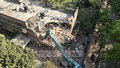 Capital development authority, RAJUK demolished parts of Ha-Meem Group Chairman AK Azad's house in Dhaka on Tuesday. Authorities said the former FBCCI president's house, in the city's upscale neighbourhood of Gulshan, was built without following an approved plan. Photo: Abdullah Al Momin