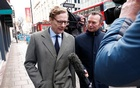 Alexander Nix, CEO of Cambridge Analytica arrives at the offices of Cambridge Analytica in central London, Britain, March 20, 2018. Reuters