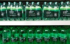 Bottles of own brand sparkling water are displayed in a Sainsbury's store in Redhill, Britain, March 27, 2018. Reuters