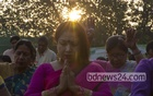 Christian devotees pray at the T&T field near Manik Miah Avenue on Easter Sunday. Photo: mostafigur rahman