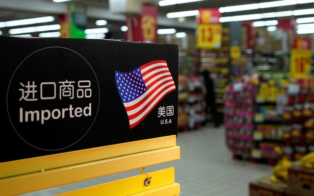 Imports from the US are seen at a supermarket in Shanghai, China Apr 3, 2018. Reuters