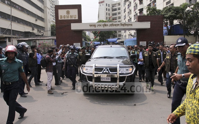 Khaleda Zia being taken back to prison.