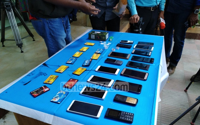 File Photo: Digital devices used by students to cheat in Dhaka University admission tests.