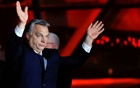 Hungarian Prime Minister Viktor Orban addresses the supporters after the announcement of the partial results of parliamentary election in Budapest, Hungary, Apr 8, 2018. Reuters