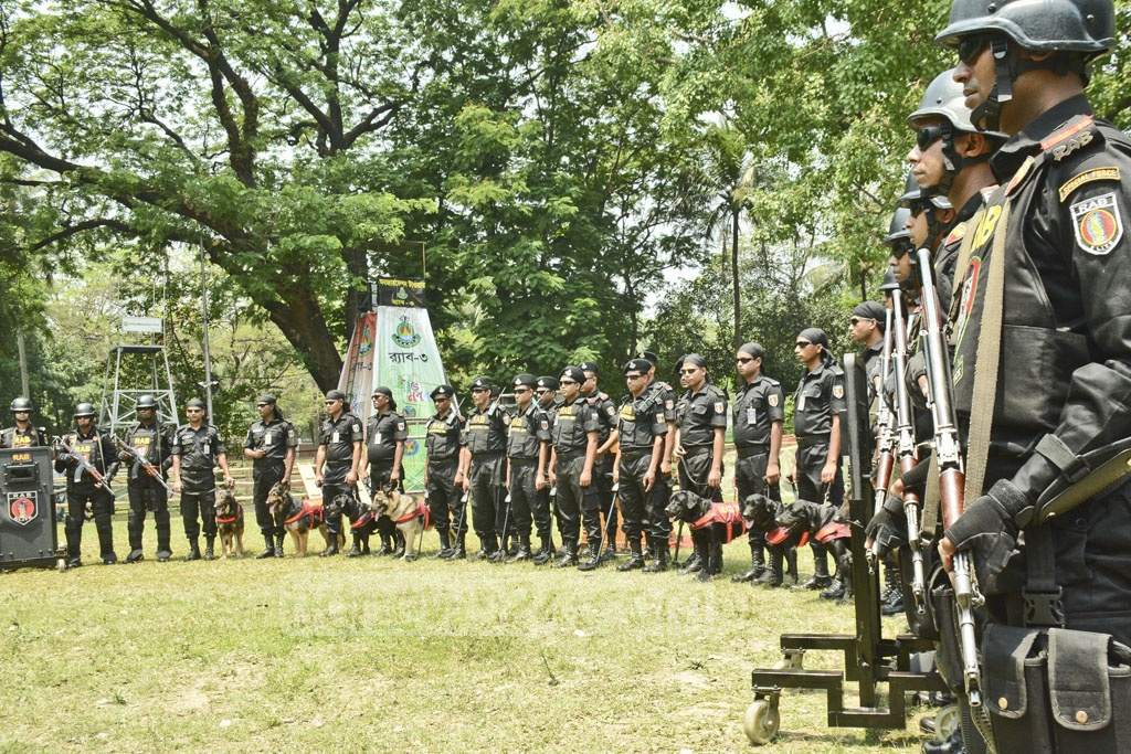 RAB takes steps to ensure security for Pahela Baishakh celebrations due on Apr 14 in the Ramna Batamul area in Dhaka.