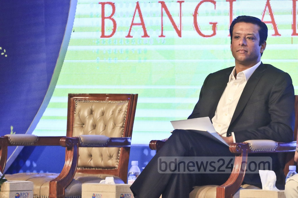 Advisor to the Prime Minister on Information Technology Sajeeb Wazed Joy at the inaugural ceremony of the two-day BPO Summit at Dhaka's Sonargaon Hotel on Sunday. Photo: Abdullah Al Momin