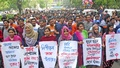 Bangladesh Council to Protect General Students' Rights, which is demanding reforms to quota system in government jobs, takes out a protest march on the Dhaka University campus on Friday against expulsion of three students from Kabi Sufia Kamal Hall and the manner in which they were driven out in the wee hours.