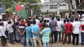'Sons of Freedom Fighters' holds a rally in front of the National Press Club in Dhaka on Saturday to demand that quotas for government jobs are maintained. Photo: Asif Mahmud Ove