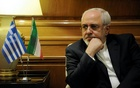 Iranian Foreign Minister Mohammad Javad Zarif meets with Greek Prime Minister Alexis Tsipras (not pictured) at his office at the Maximos Mansion in Athens, Greece, Apr 23, 2017. Reuters