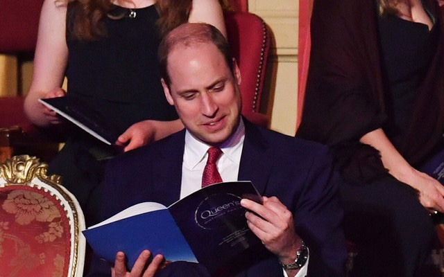 Britain's Prince William, Duke of Cambridge, attends a special concert