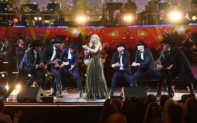 Kylie Minogue performs during a special concert